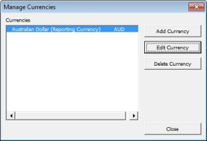 Manage Currencies